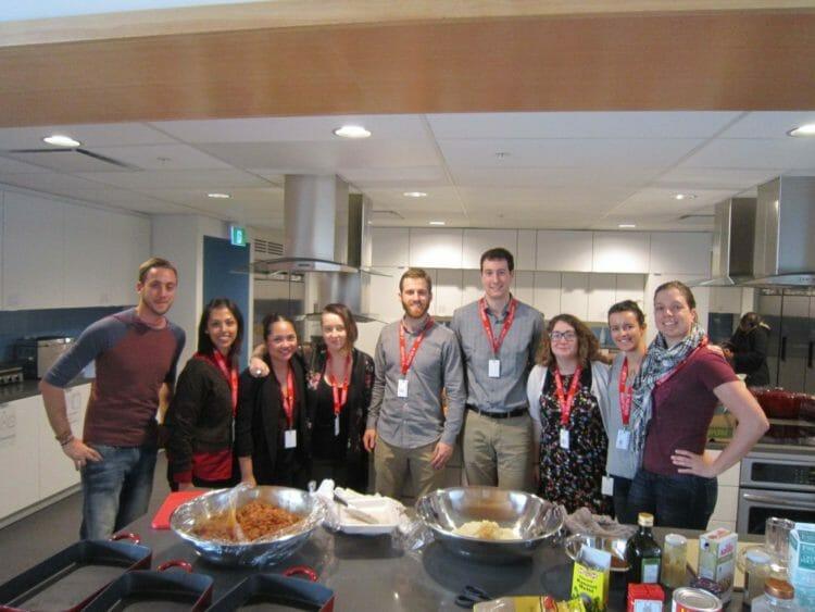 Volunteers in Ronald McDonald House BC's Kicthen
